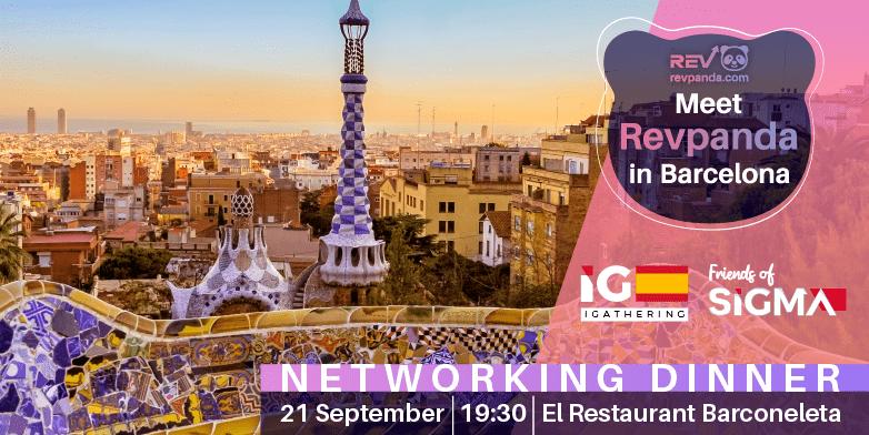 Revpanda Sponsoring SiGMA iGathering Dinner at Barcelona